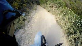 Αναβάτης POV ποδηλάτων Enduro απόθεμα βίντεο