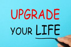 Αναβαθμίστε τη ζωή σας στοκ εικόνα με δικαίωμα ελεύθερης χρήσης