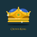 Αναβοσβήνοντας λαμπρός χρυσός κορώνα ή λόφος βασιλιάδων ελεύθερη απεικόνιση δικαιώματος