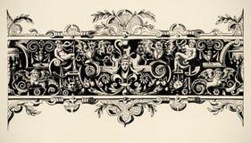 αναγέννηση χάραξης αιώνα 16 arabesque Στοκ φωτογραφία με δικαίωμα ελεύθερης χρήσης