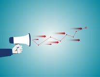 Αναγγελία της επιτυχούς ιδέας Επιχειρησιακή απεικόνιση έννοιας Vecto Στοκ εικόνα με δικαίωμα ελεύθερης χρήσης