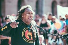 Αναγκασμένη Aborigional περάτωση Μάρτιος του Μπρίσμπαν Στοκ Εικόνα