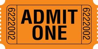 αναγνωρίστε ένα εισιτήρι&omicron Στοκ Εικόνα