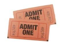 αναγνωρίστε τα εισιτήρια ένα Στοκ Εικόνες
