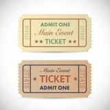 αναγνωρίστε τα εισιτήρια Στοκ Εικόνες