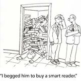 αναγνώστης έξυπνος Στοκ εικόνα με δικαίωμα ελεύθερης χρήσης