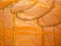 Αναγομωμένο πορτοκαλί μέταλλο Στοκ φωτογραφία με δικαίωμα ελεύθερης χρήσης