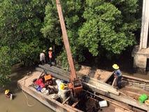 Αναδημιουργία ακτών ποταμών, Ταϊλάνδη στοκ φωτογραφία