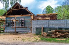 Αναδημιουργία του παλαιού σπιτιού στοκ φωτογραφία