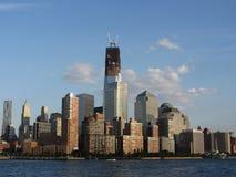 Αναδημιουργία του World Trade Center από τον ποταμό του Hudson Στοκ φωτογραφία με δικαίωμα ελεύθερης χρήσης
