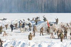 Αναδημιουργία των γεγονότων το 1943 που τελειώνουν τη μάχη Stalingrad. στοκ φωτογραφία