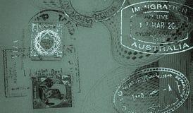 αναδρομικά γραμματόσημα σ& Στοκ φωτογραφία με δικαίωμα ελεύθερης χρήσης
