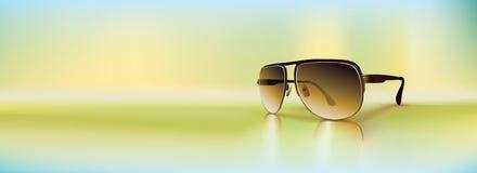 αναδρομικά γυαλιά ηλίου Στοκ Εικόνα
