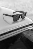 αναδρομικά γυαλιά ηλίου Στοκ Φωτογραφία
