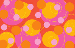 αναδρομικά δαχτυλίδια κ&a διανυσματική απεικόνιση