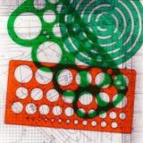 Αναδρομικά ζωηρόχρωμα διάτρητα σχεδίων σε ένα σχέδιο. Στοκ φωτογραφία με δικαίωμα ελεύθερης χρήσης
