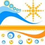 αναδρομικά θερινά κύματα Στοκ φωτογραφία με δικαίωμα ελεύθερης χρήσης