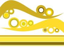 αναδρομικά κύματα κύκλων διανυσματική απεικόνιση