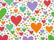αναδρομικά λωρίδες καρδιών καραμελών Στοκ εικόνα με δικαίωμα ελεύθερης χρήσης