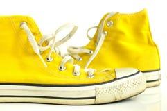 αναδρομικά πάνινα παπούτσια Στοκ Φωτογραφίες