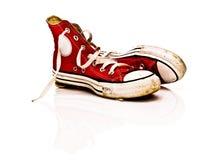 αναδρομικά πάνινα παπούτσι&a Στοκ Φωτογραφία