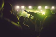 Άνθρωποι στη συναυλία στοκ εικόνα