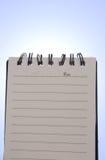 αναδρομικά φωτισμένο σημειωματάριο στοκ φωτογραφία με δικαίωμα ελεύθερης χρήσης