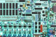 αναδρομικά φωτισμένο PCB Στοκ Εικόνες