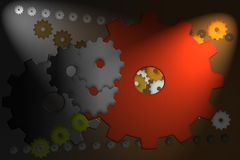 Αναδρομικά cogwheels και ελαφριές ακτίνες απεικόνιση αποθεμάτων