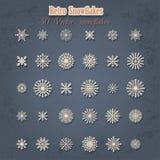 Αναδρομικά snowflakes Χριστουγέννων Στοκ Εικόνες