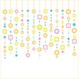 Αναδρομικές μορφές κοχυλιών Capiz Στοκ εικόνα με δικαίωμα ελεύθερης χρήσης