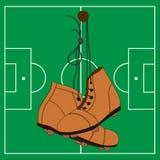 Αναδρομικές μπότες ποδοσφαίρου Στοκ Εικόνες