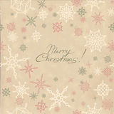 Αναδρομική ανασκόπηση Χριστουγέννων με snowflakes απεικόνιση αποθεμάτων