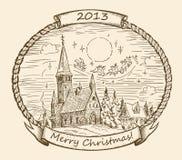 Αναδρομική απεικόνιση Χριστουγέννων απεικόνιση αποθεμάτων