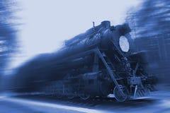 αναδρομική ατμομηχανή τη νύχτα στοκ εικόνα με δικαίωμα ελεύθερης χρήσης