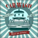 Αναδρομική αφίσα πλυσίματος αυτοκινήτων στοκ εικόνες