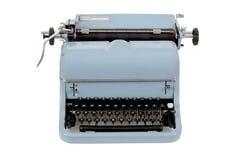 Αναδρομική γραφομηχανή στην άσπρη ανασκόπηση Στοκ Εικόνες