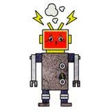 αναδρομική δυσλειτουργία ρομπότ κινούμενων σχεδίων σύστασης grunge ελεύθερη απεικόνιση δικαιώματος