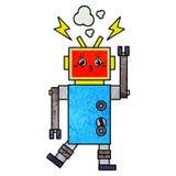 αναδρομική δυσλειτουργία ρομπότ κινούμενων σχεδίων σύστασης grunge απεικόνιση αποθεμάτων