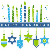 Αναδρομική ευτυχής κάρτα Hanukkah [5] ελεύθερη απεικόνιση δικαιώματος