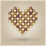 Αναδρομική καρδιά Στοκ Φωτογραφίες