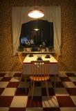 Αναδρομική κουζίνα Στοκ Εικόνες