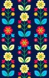 Αναδρομική, παραδοσιακή floral διακόσμηση που εμπνέονται από Ουκρανό και POL Στοκ εικόνες με δικαίωμα ελεύθερης χρήσης