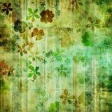 Αναδρομική πράσινη ταπετσαρία διανυσματική απεικόνιση