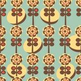 Αναδρομική floral ανασκόπηση απεικόνιση αποθεμάτων