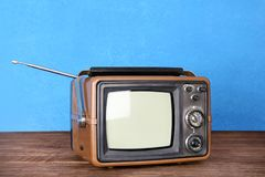 Αναδρομική TV στο υπόβαθρο Στοκ εικόνες με δικαίωμα ελεύθερης χρήσης
