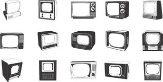 αναδρομική TV συνόλων Στοκ εικόνα με δικαίωμα ελεύθερης χρήσης