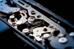 αναδρομικός διανυσματικός τρύγος απεικόνισης ανασκόπησης μηχανισμός εργαλείων παλαιός στοκ εικόνες