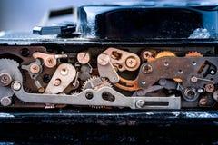 αναδρομικός διανυσματικός τρύγος απεικόνισης ανασκόπησης μηχανισμός εργαλείων παλαιός στοκ εικόνα με δικαίωμα ελεύθερης χρήσης