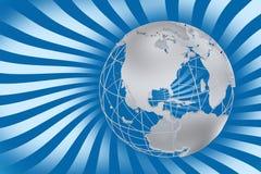αναδρομικός κόσμος χαρτών Στοκ φωτογραφία με δικαίωμα ελεύθερης χρήσης
